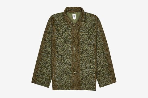 Leopard-print Brushed Cotton Shirt