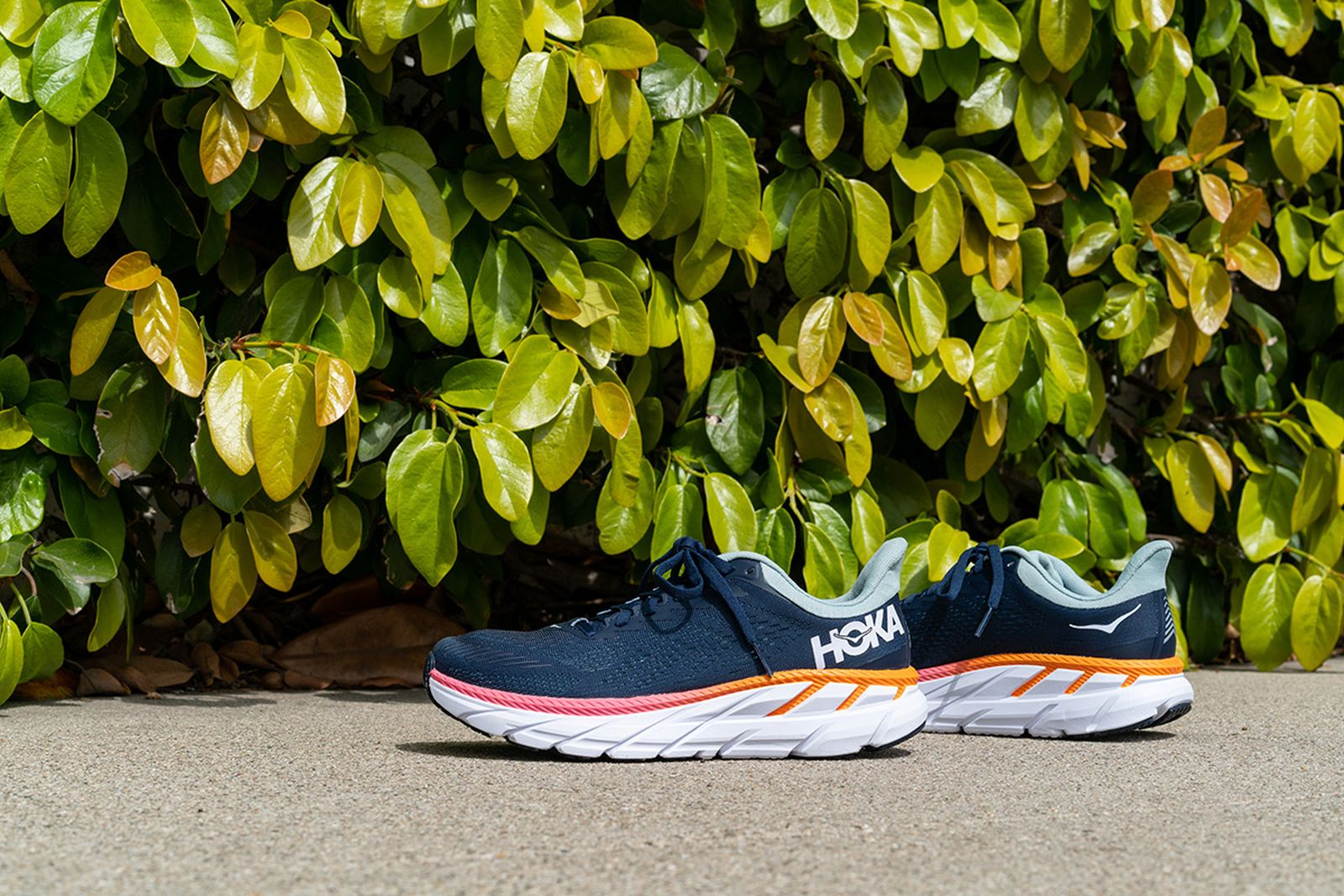 hoka one one clifton 7 editorial photos