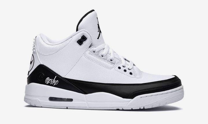 Fragment x Air Jordan 3 in White/Black mock-up