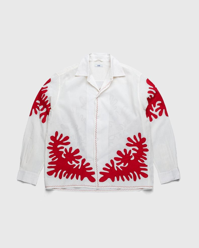 BODE — Setting Cut Out Appliqué Shirt Natural Red