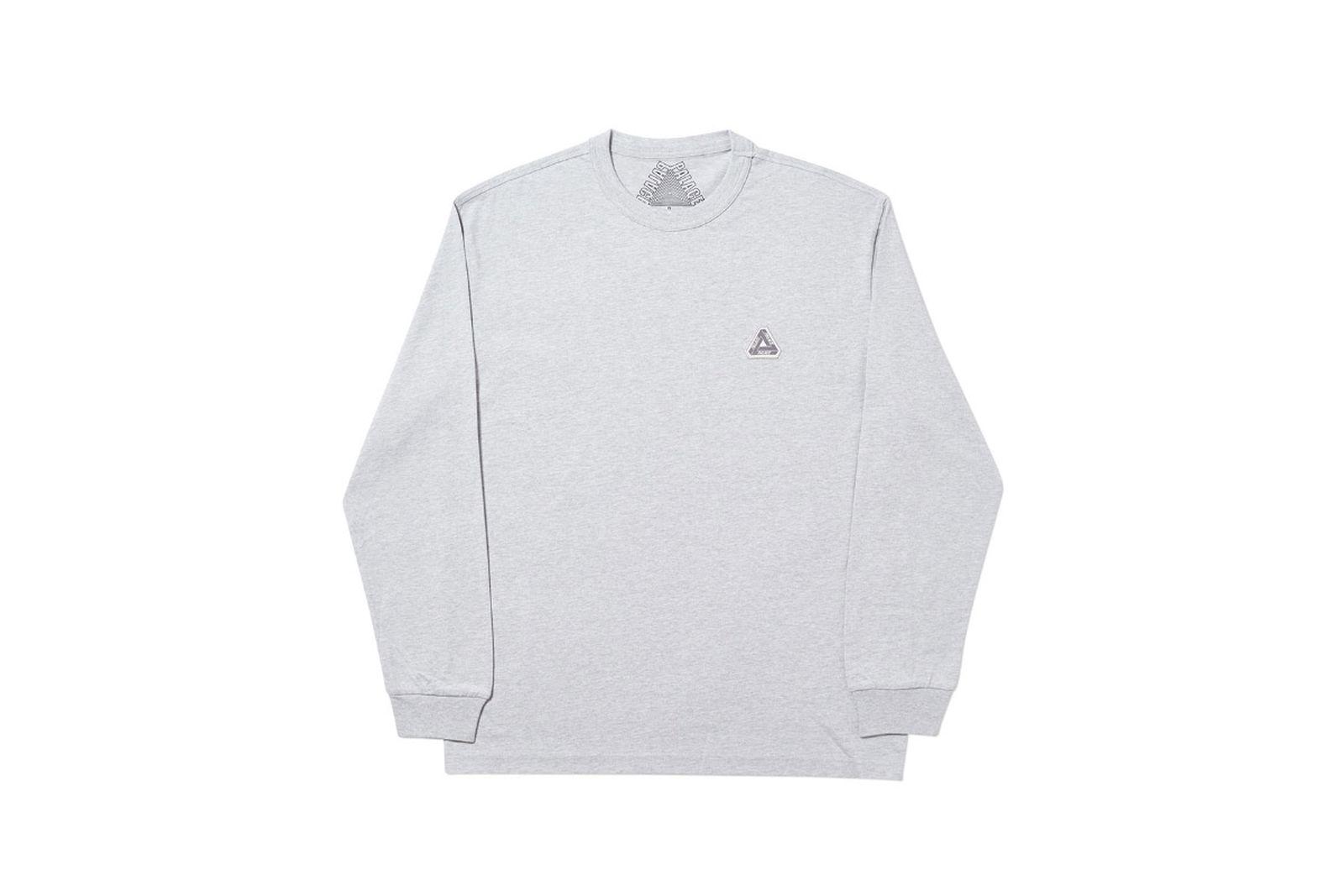 Palace 2019 Autumn Longsleeve T Shirt grey marl