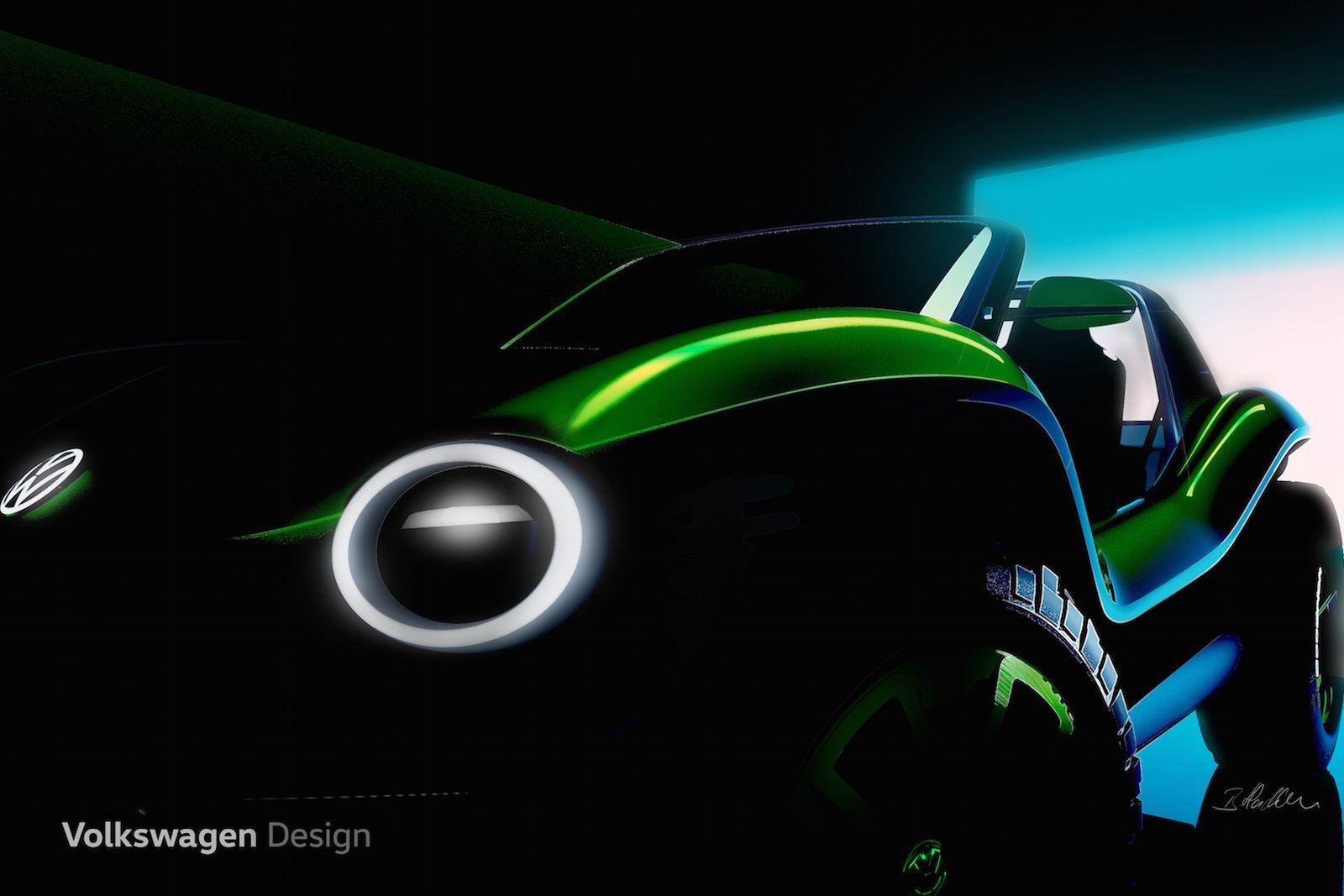 volkswagen electric dune buggy concept