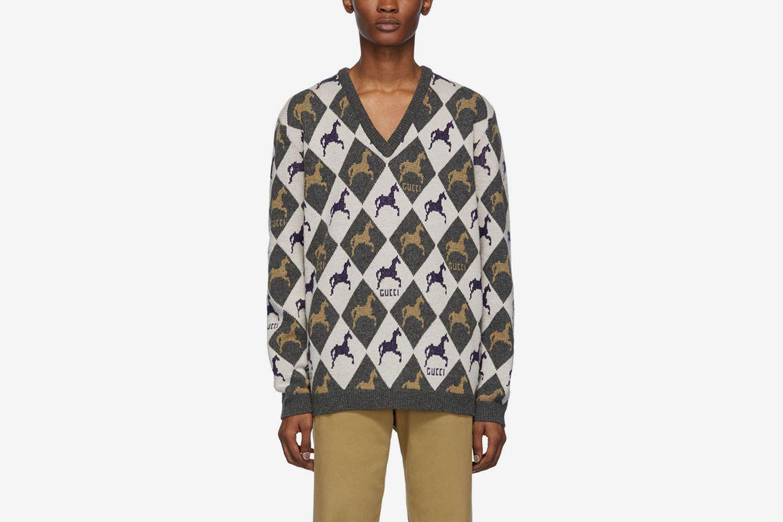 Horse Jacquard Knit Sweater