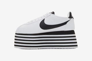 3c28bf7d3a15 COMME des GARÇONS  Nike Cortez Platform Is Available in White   Black  Colorways
