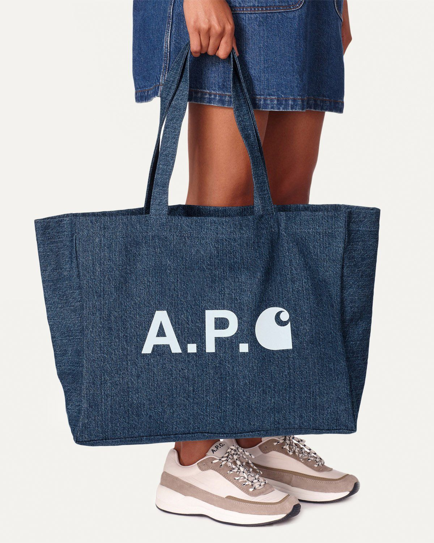 A.P.C. x Carhartt WIP - Alan Shopping Bag Indigo - Image 2