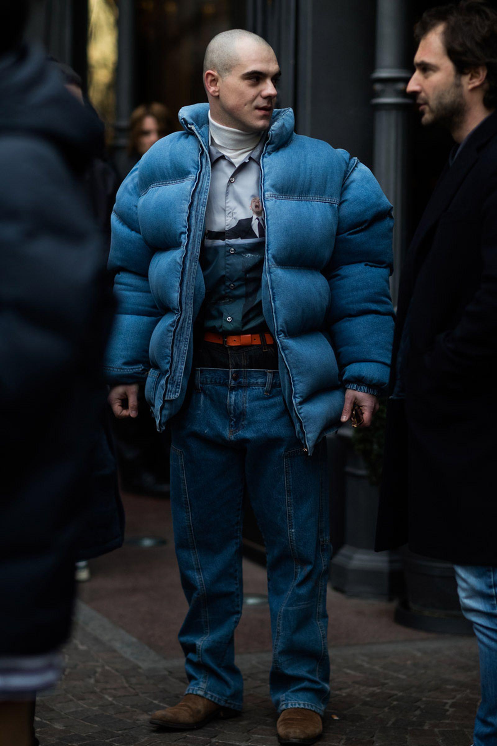 18milan fashion week street style 032c HBA x Colmar Supreme