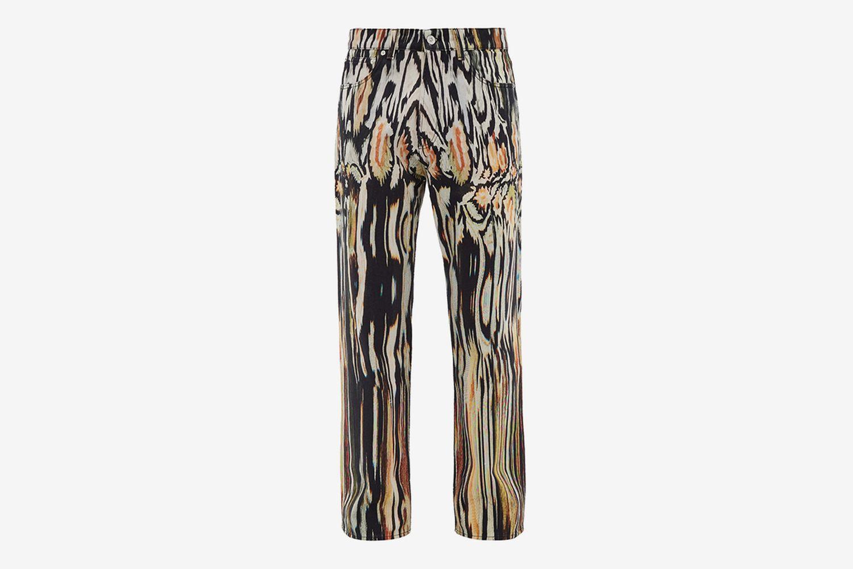 Third Cut Hanabi-Print Jeans