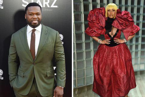 dc03ee56708 50 Cent Speaks Up for Nicki Minaj in Cardi B & Steve Madden Spat