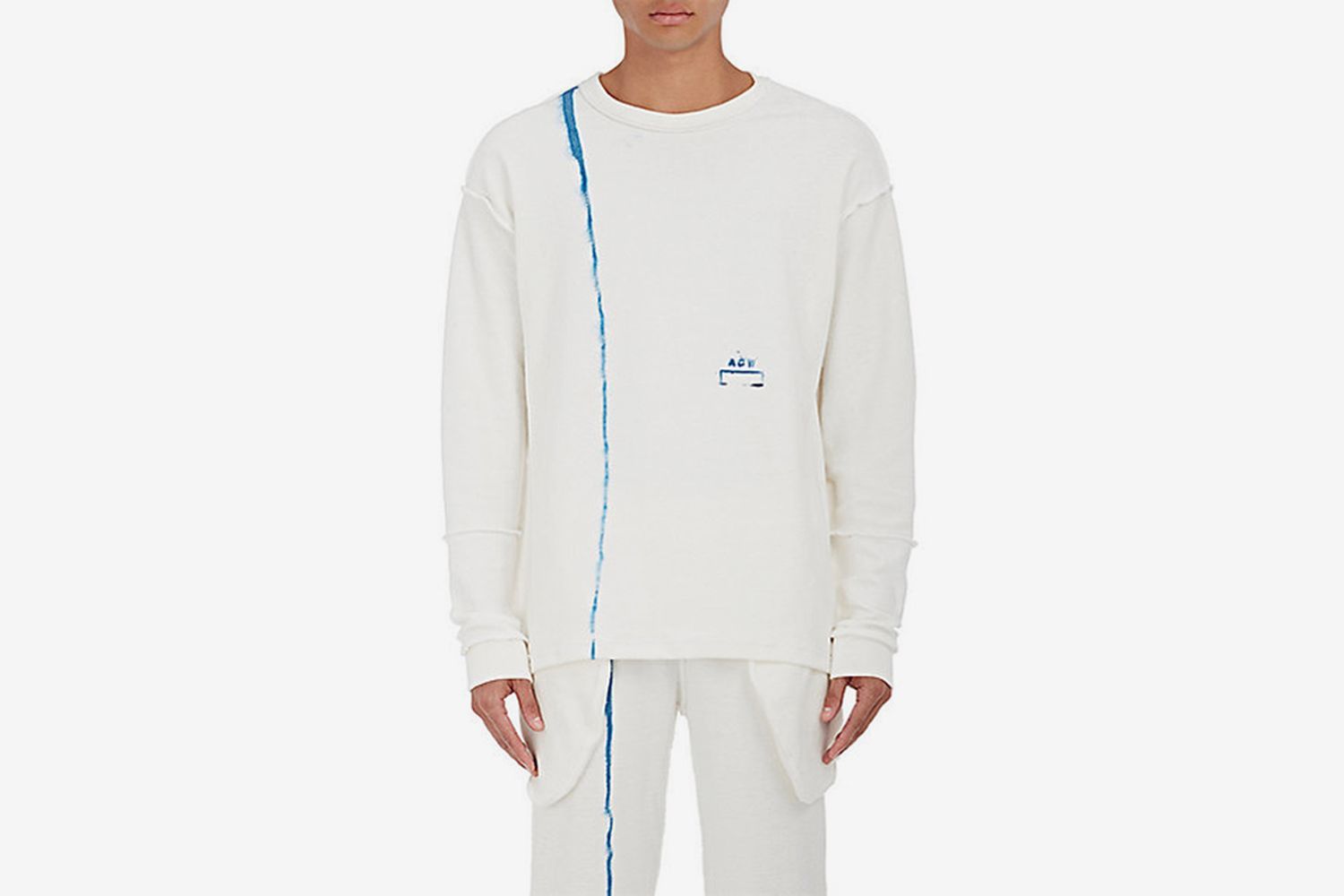 """""""Inside-Out"""" Cotton Terry Sweatshirt"""