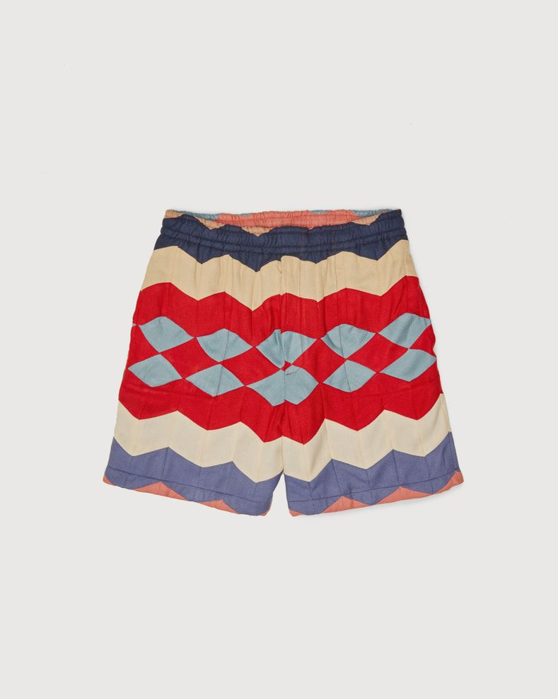 BODE - Chevron Quilt Shorts Multi
