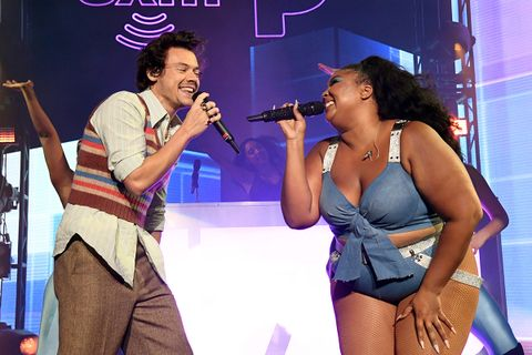 Lizzo Wilds Out with Harry Styles for Surprise 'Juice' Performance