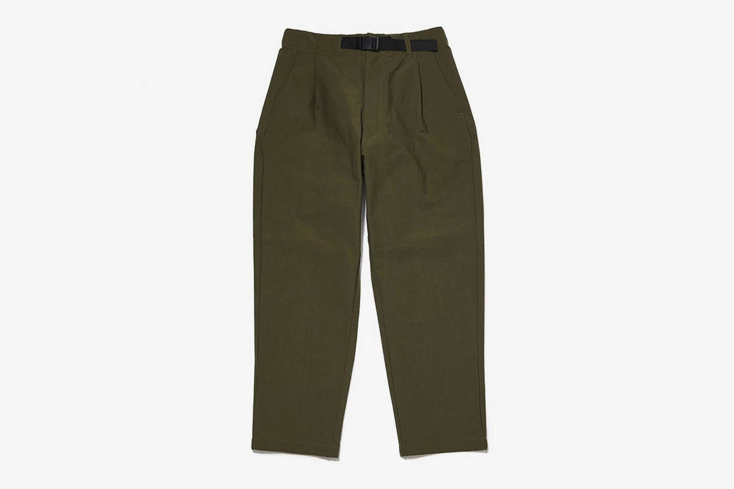 One Tuck Tapered Stretch Twill Pants