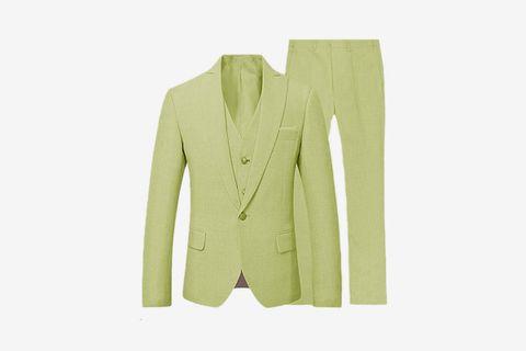 Vintage Linen 3 Pieces Tuxedo Suit