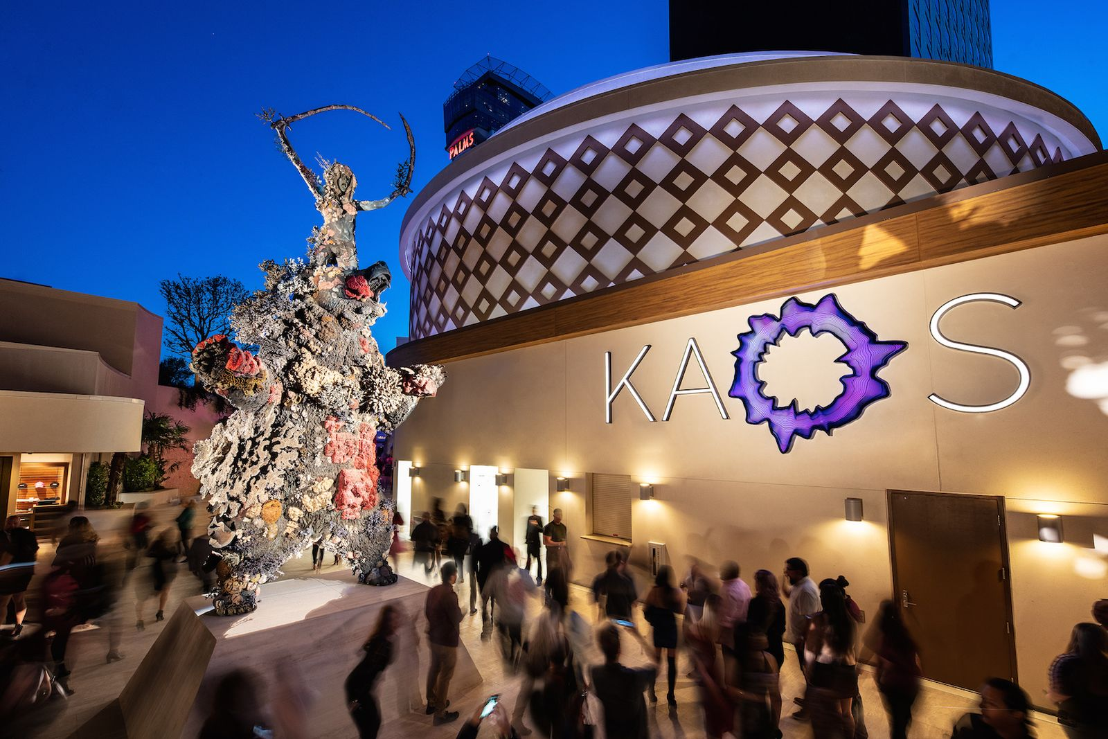 damien hirst demon with bowl statue kaos Palms Casino Resort