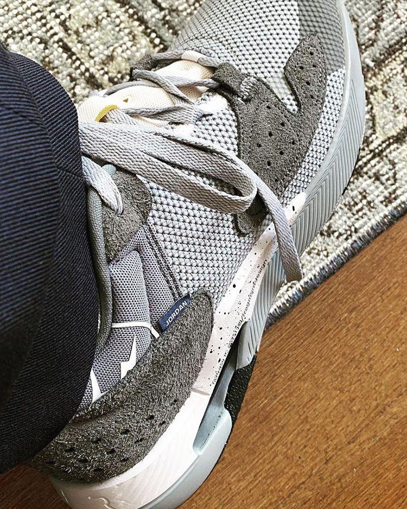 fragment design x nike jordan brand sneaker in grey