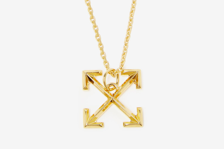 Cross-Arrow Small Pendant Necklace