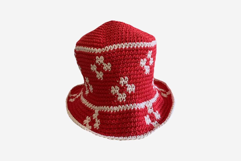 Scarlet Floral Hat