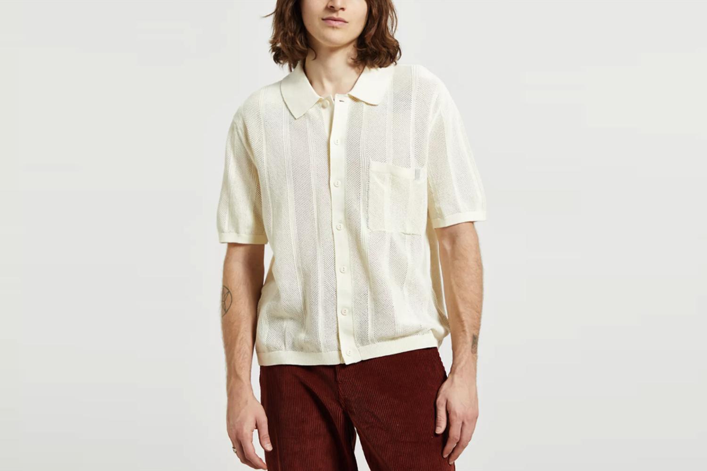 Textured Stitch Polo Shirt