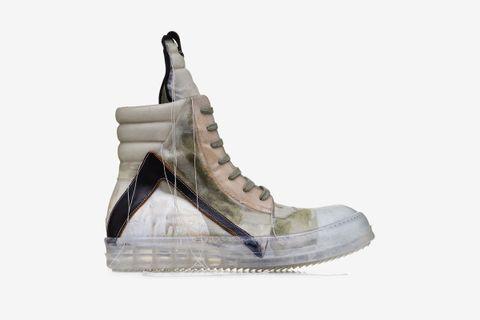 pretty nice 26581 ecbfe Rick Owens Drops Clear-Soled Geobasket Sneakers