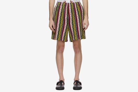 Primary Stripe Track Shorts