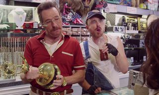 """Watch Bryan Cranston, Aaron Paul and Julia Louis-Dreyfus star in """"Barely Legal Pawn"""""""
