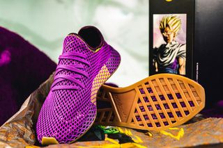"8af8ff4902bc2 43einhalb. 43einhalb. Previous Next. Brand  Dragon Ball Z x adidas. Model   Deerupt ""Son Gohan"""