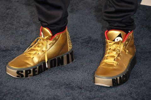 """3b5633f9fc9d88 Custom Nike Air Jordan """"Golden Globes"""""""
