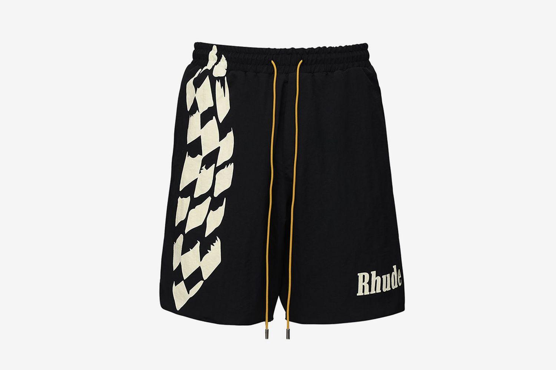 Oversize Logo Nylon Shorts