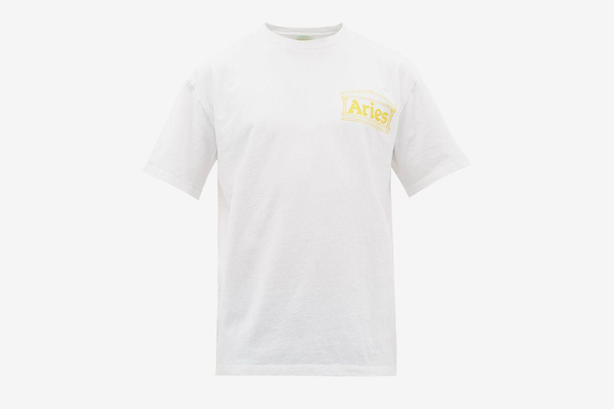 Temple Logo Cotton T-Shirt