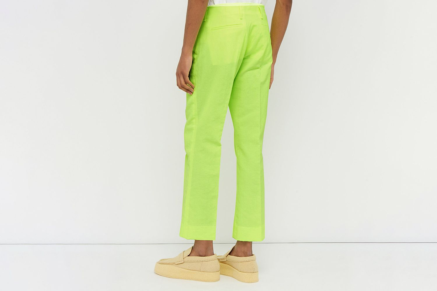 Loose Fit Linen Blend Trousers
