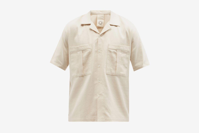 Chemise à col cubain