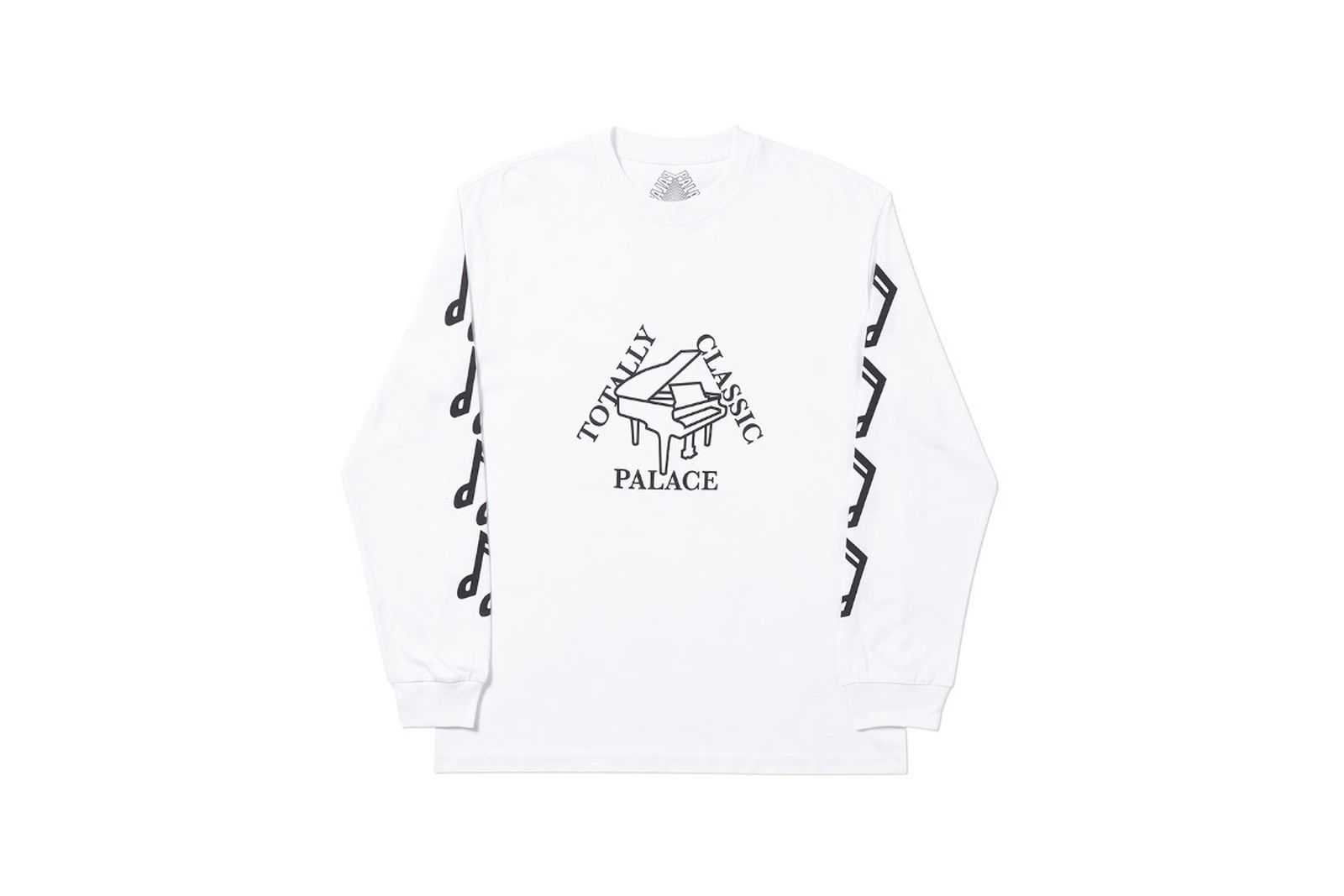 Palace 2019 Autumn Longsleeve Classis white front