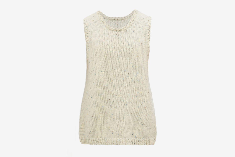 Melange Wool Sleeveless Sweater
