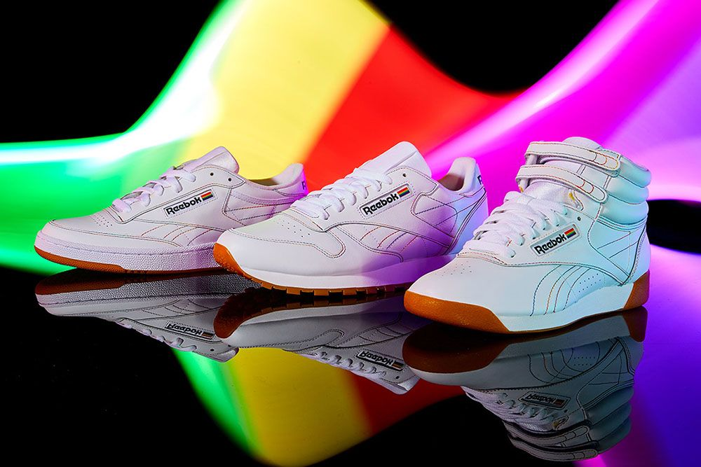 """Reebok Adds a Rainbow to Three Classic Sneakers for This Year's """"Pride"""" Pack"""