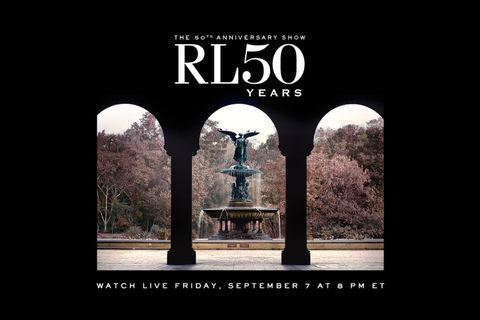 ralph lauren 50th anniversary fashion show livestream nyfw polo ralph lauren