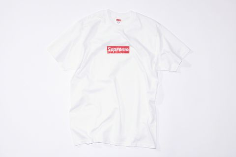 c66d9b4d Supreme's Swarovski Box Logo T-Shirt Is Reselling for Almost $1,500