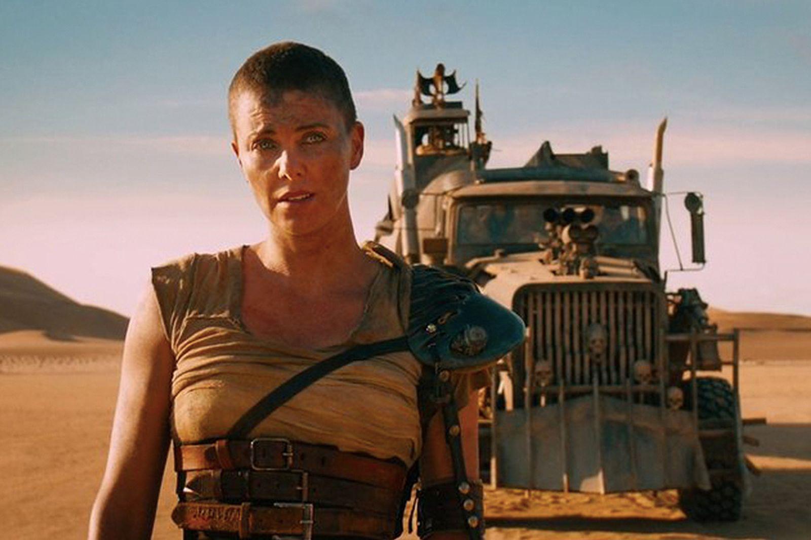 Furiosa in 'Mad Max: Fury Road' Desert Scene