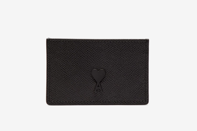 Logo-Patch Leather Cardholder
