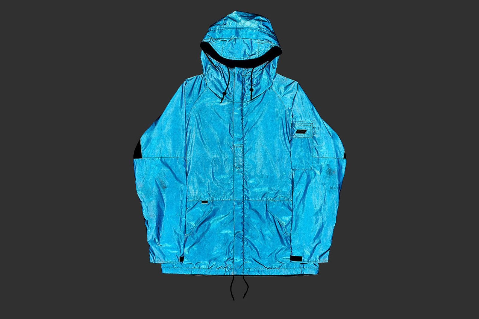 Palace 2019 Autumn Jacket Deflector blue reflective front fw19