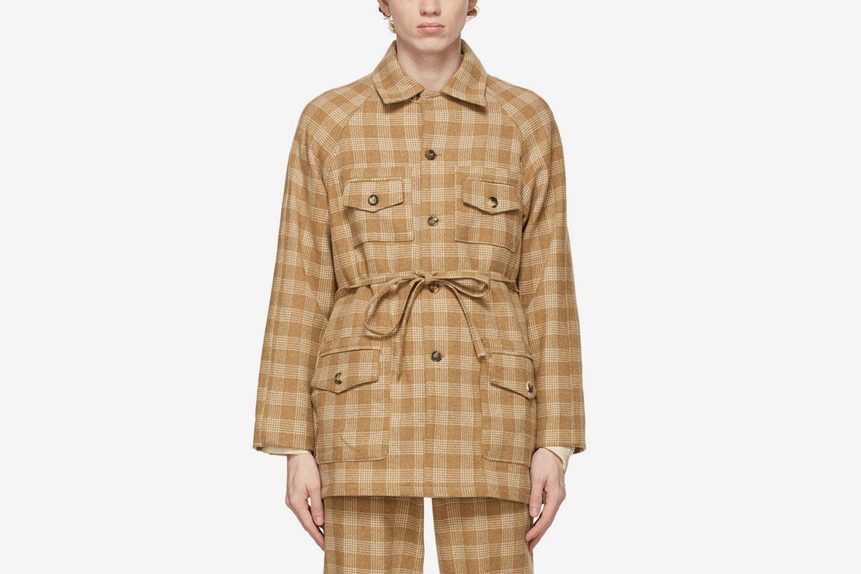 Oatmeal Plaid Jacket