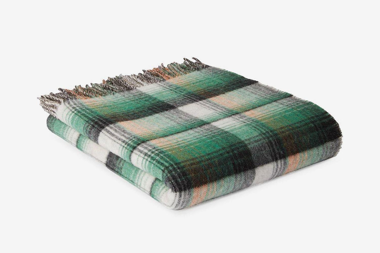 GG and Check Throw Blanket
