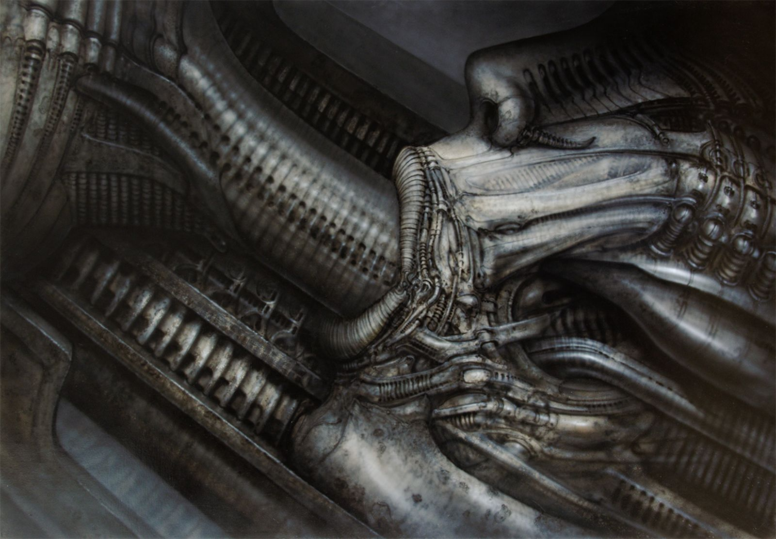 HR Giger, Erotomechanics IX (Fellatio), 1979
