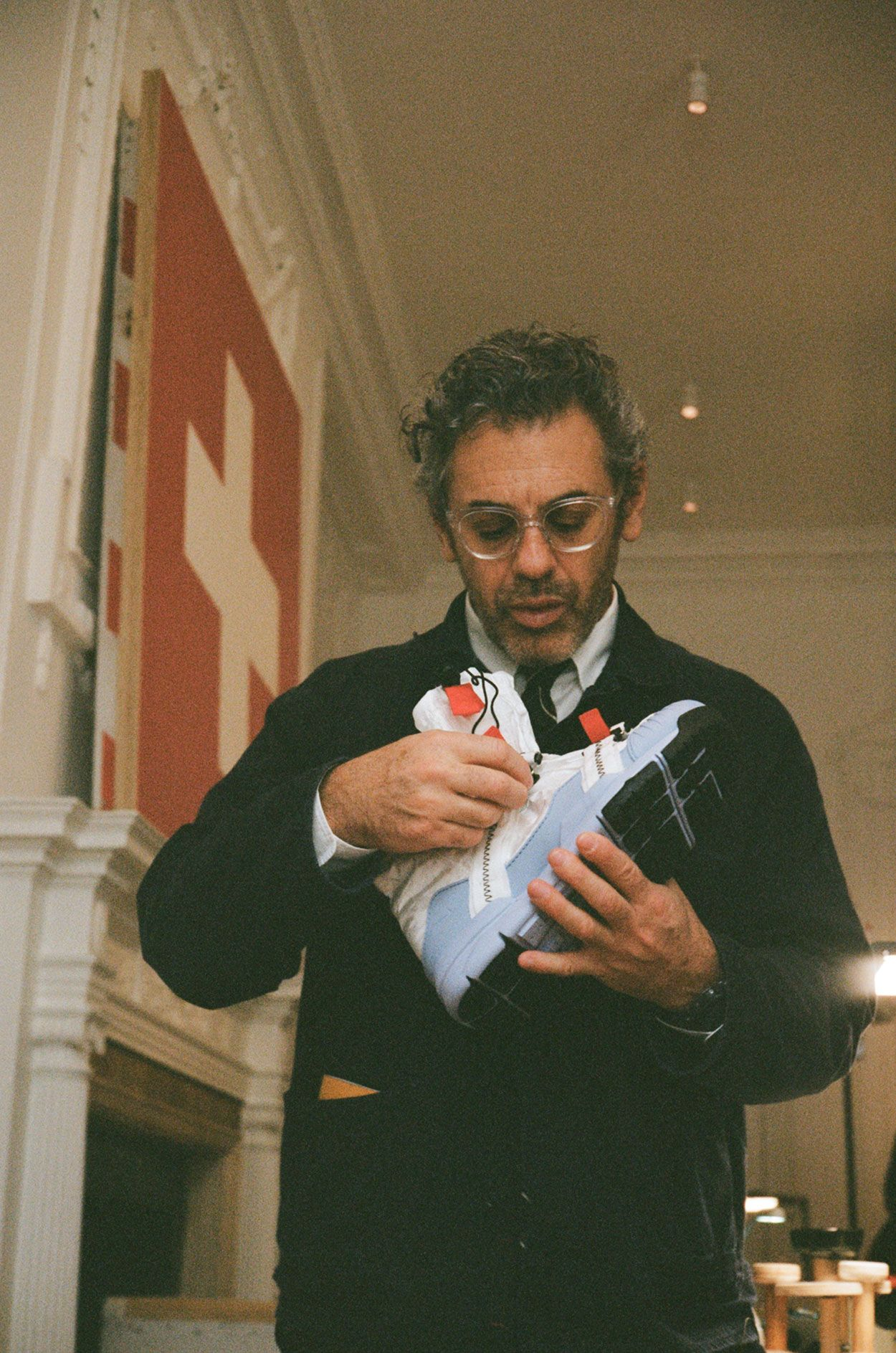 20522489cb56 Tom Sachs Unboxes His NikeCraft Mars Yard Overshoe