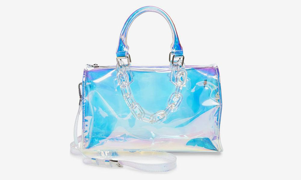 Does This $59 Iridescent Barrel Bag Look Familiar to You?