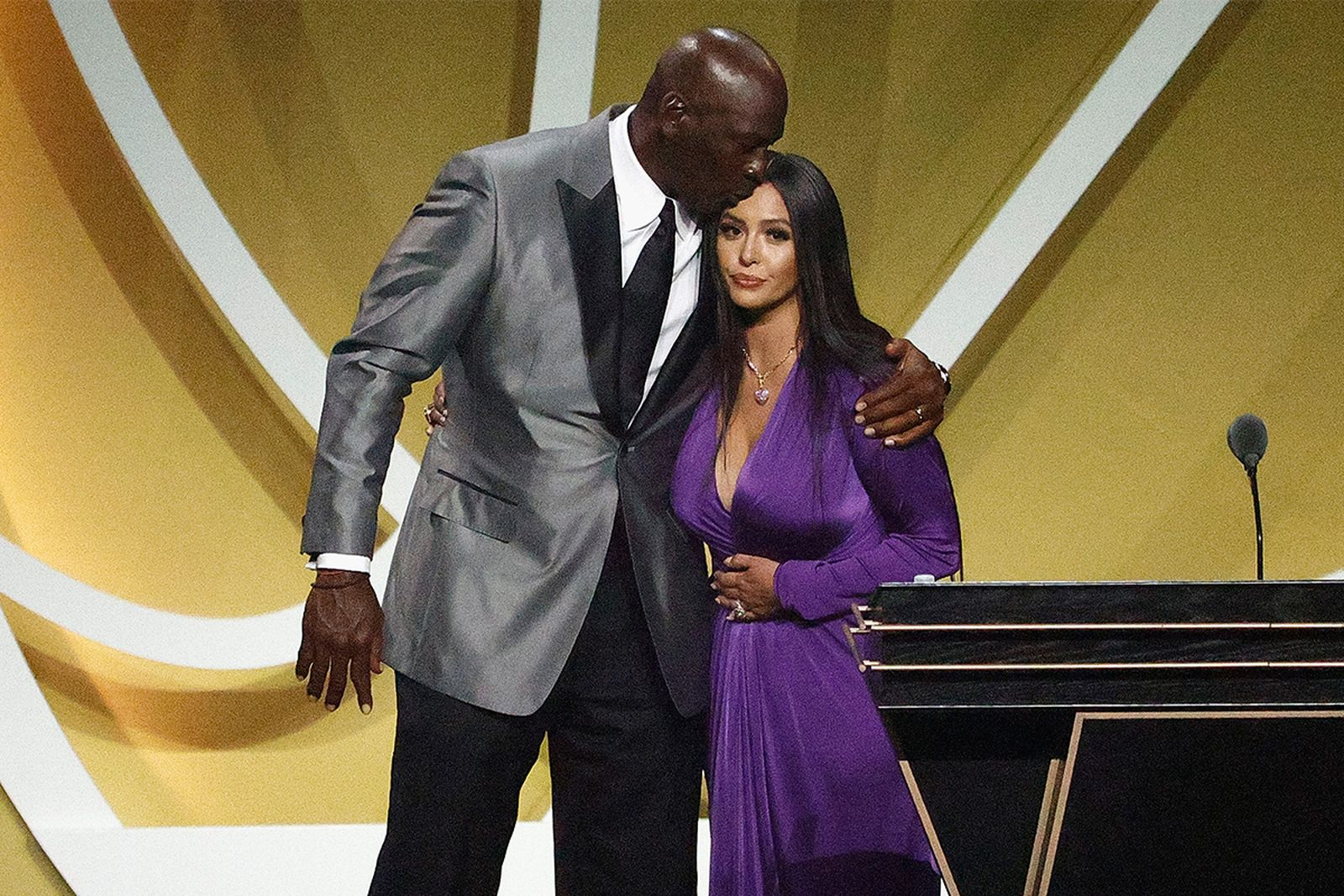 Vanessa Bryant and Michael Jordan