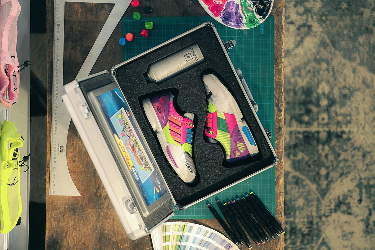 Overkill's adidas ZX 8500 Is a Neon-decked Nod To Graffiti Culture 24