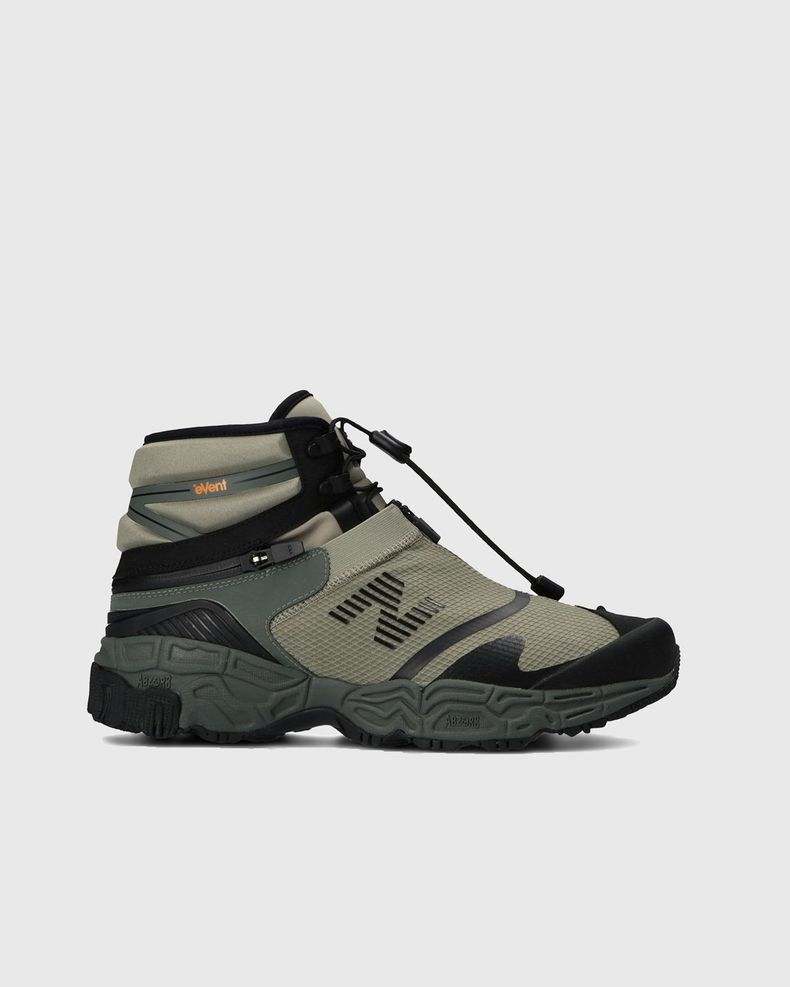 New Balance x Snow Peak — Niobium Beige/Black/Green