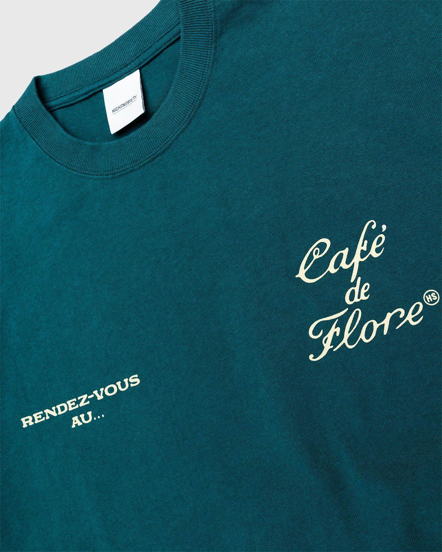 Highsnobiety — Not In Paris 3 x Café De Flore T-Shirt Green - Image 3