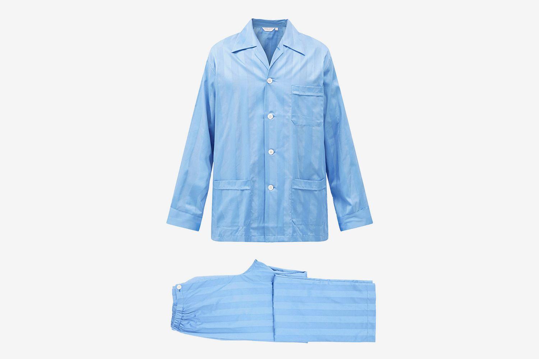 Lingfield Striped Cotton Pyjamas