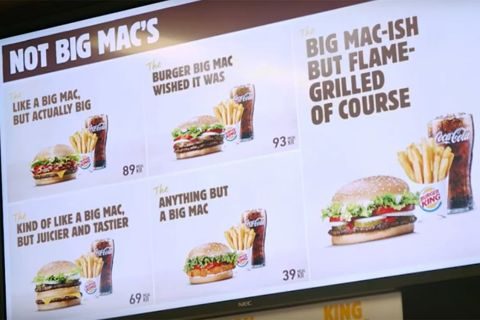 burger king mocks mcdonalds big mac mcdonald's